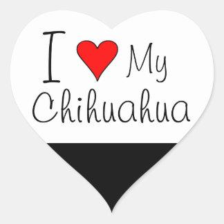 I heart my chihuahua heart sticker