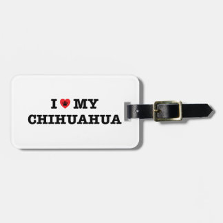 I Heart My Chihuahua Luggage Tag