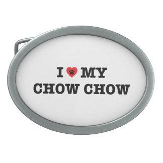I Heart My Chow Chow Belt Buckle