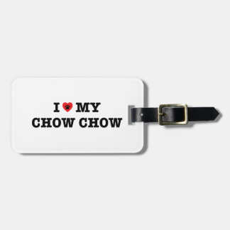 I Heart My Chow Chow Luggage Tag