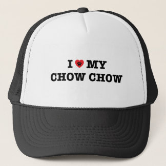 I Heart My Chow Chow Trucker Hat