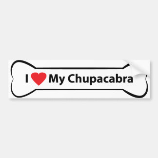 I heart My Chupacabra Bumper Sticker