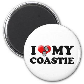 I heart my Coastie Magnet
