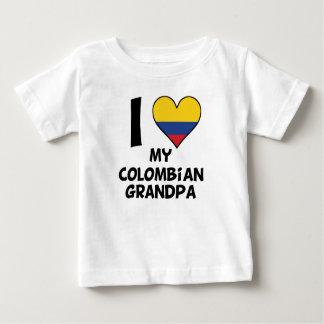 I Heart My Colombian Grandpa Baby T-Shirt