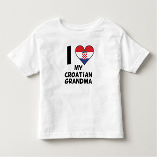 I Heart My Croatian Grandma Toddler T-shirt