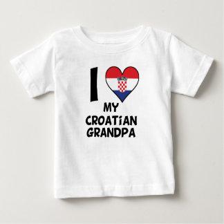 I Heart My Croatian Grandpa Baby T-Shirt