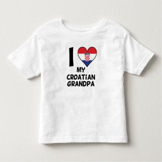I Heart My Croatian Grandpa Toddler T-shirt