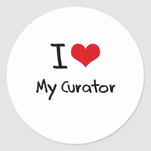 I heart My Curator Round Stickers