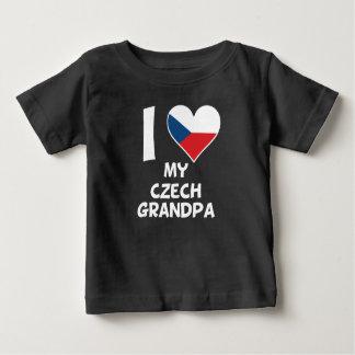 I Heart My Czech Grandpa Baby T-Shirt