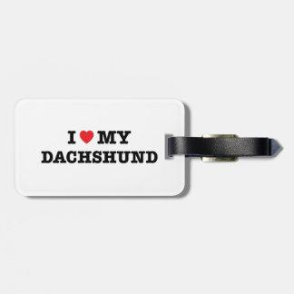 I Heart My Dachshund Luggage Tag