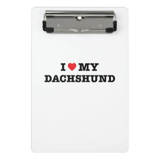 I Heart My Dachshund Mini Clipboard