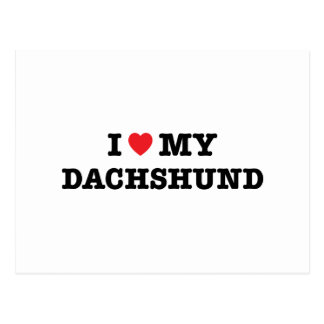 I Heart My Dachshund Postcard