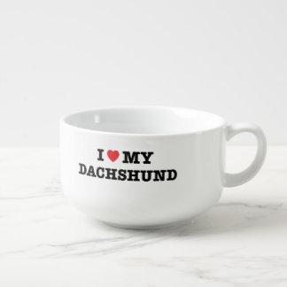 I Heart My Dachshund Soup Mug