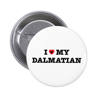 I Heart My Dalmatian Button