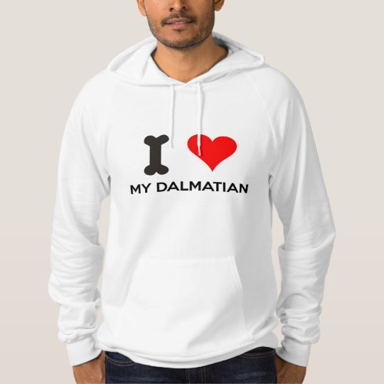 I Heart My Dalmatian Hooded Sweatshirt