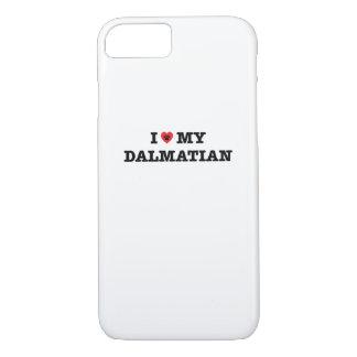 I Heart My Dalmatian iPhone 7 Case
