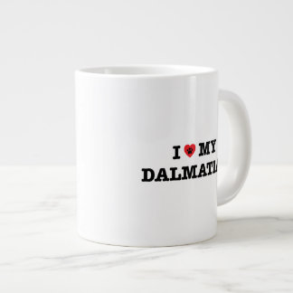 I Heart My Dalmatian Jumbo Coffee Mug