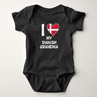 I Heart My Danish Grandma Baby Bodysuit