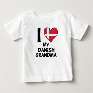 I Heart My Danish Grandma Baby T-Shirt