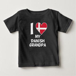 I Heart My Danish Grandpa Baby T-Shirt