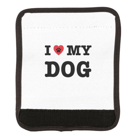 I Heart My Dog Luggage Handle Wrap