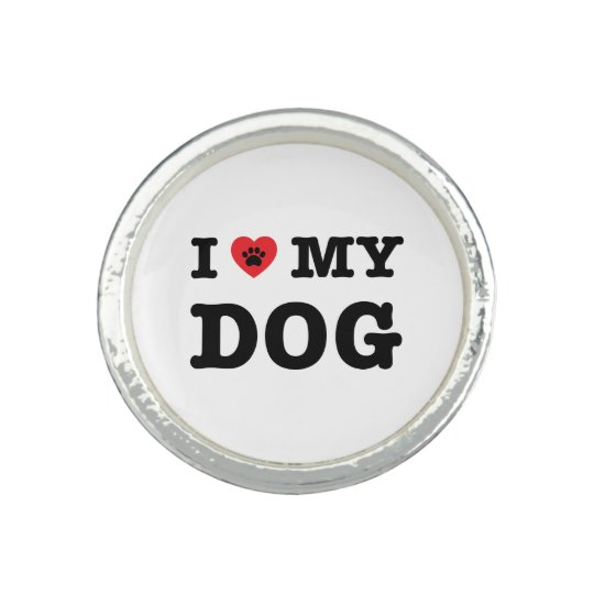 I Heart My Dog Photo Ring
