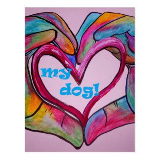 I Heart my DOG Postcard