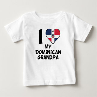 I Heart My Dominican Grandpa Baby T-Shirt