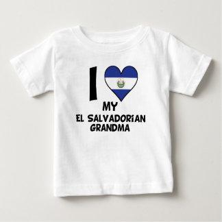 I Heart My El Salvadorian Grandma Baby T-Shirt