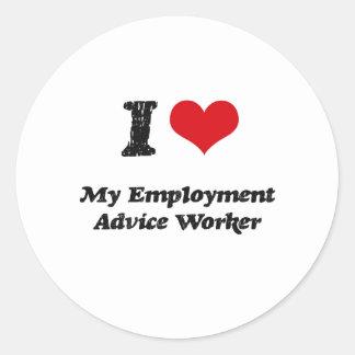 I heart My Employment Advice Worker Round Sticker