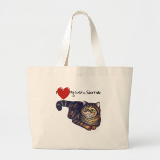 I Heart My Exotic Shorthair Large Tote Bag