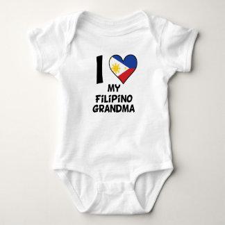 I Heart My Filipino Grandma Baby Bodysuit