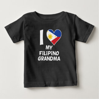 I Heart My Filipino Grandma Baby T-Shirt