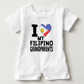 I Heart My Filipino Grandparents Baby Romper