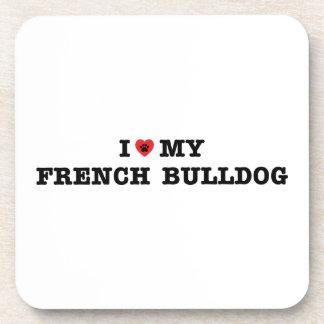 I Heart My French Bulldog Coaster