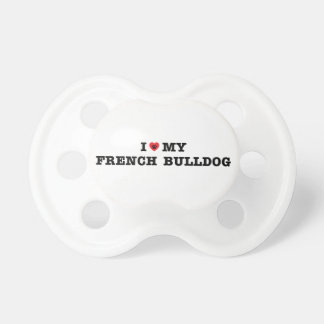 I Heart My French Bulldog Pacifier