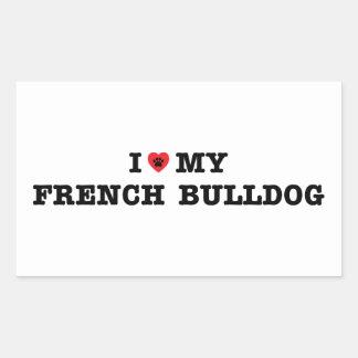 I Heart My French Bulldog Sticker