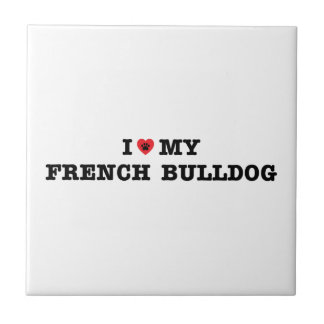 I Heart My French Bulldog Tile
