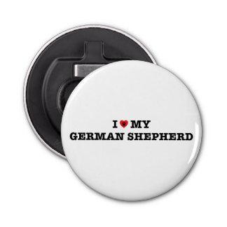 I Heart My German Shepherd Bottle Opener Button Bottle Opener