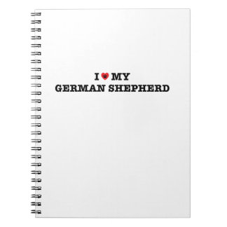 I Heart My German Shepherd Spiral Notebook