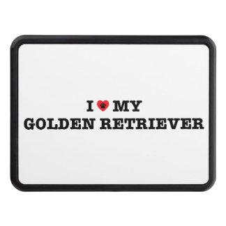 I Heart My Golden Retriever Trailer Hitch Cover