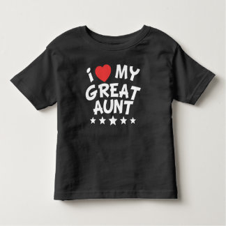 I Heart My Great Aunt Toddler T-shirt