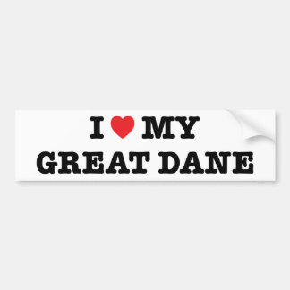 I Heart My Great Dane Bumper Sticker