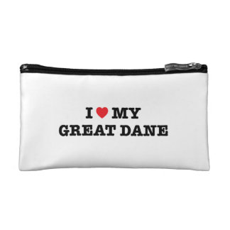 I Heart My Great Dane Cosmetic Bag