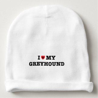 I Heart My Greyhound Baby Beanie