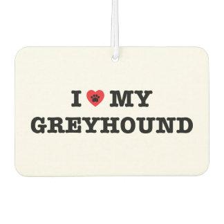 I Heart My Greyhound Car Air Freshener