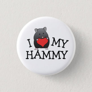 I Heart My Hammy Black Bear Syrian Button