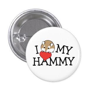 I Heart My Hammy Robo 1 Inch Round Button