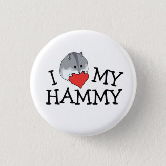 I Heart My Hammy Russian Campbell's Dwarf 1 Inch Round Button