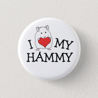 I Heart My Hammy White Syrian Button